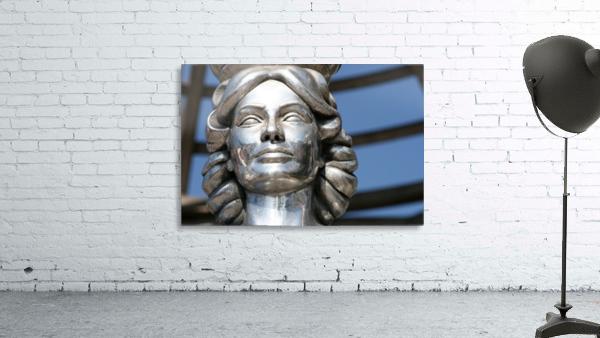 Silver Statue Face of Dorothy Dandridge