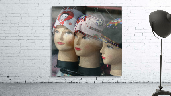 Three Mannequin Heads with Bandanas