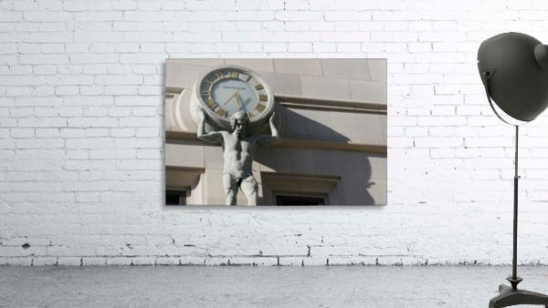 Man Holding Tiffany Clock