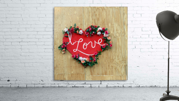 I love Heart - Square Canvas Print