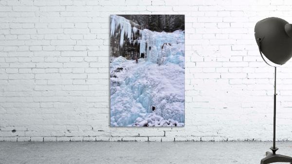 Ice Climbing Waterfall