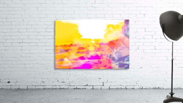 summer sunset at the beach with summer bokeh light abstract