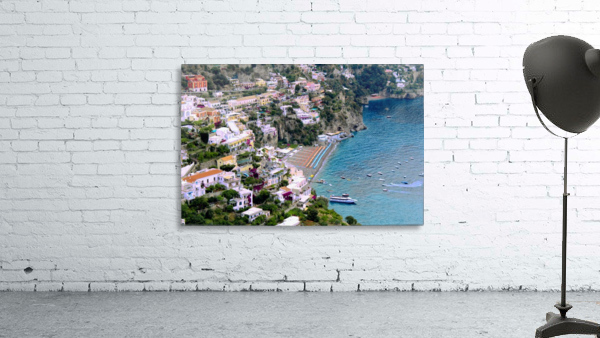 Aerial view of Positano Beach - Italy