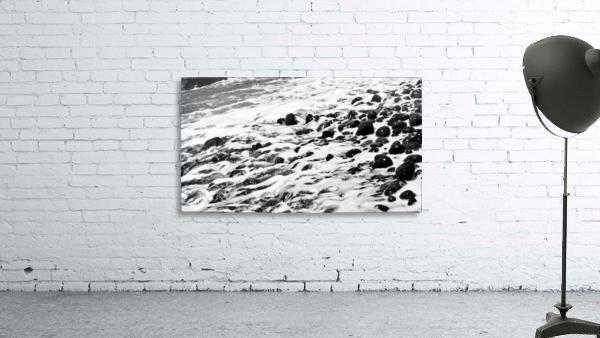 Beach Rocks Black and White II