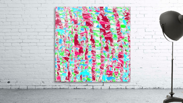 psychedelic painting texture abstract pattern background in pink blue green