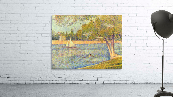 The Seine at the Grand Jatte, Spring by Seurat