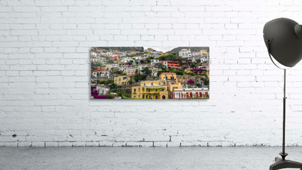 Positan village -  colourful houses