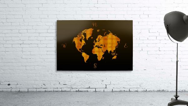 MODERN GRAPHIC ART World Map |  | Redgold