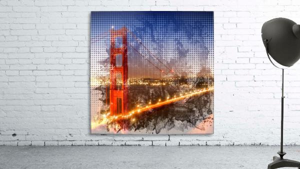 Graphic Art Golden Gate Bridge | watercolour style