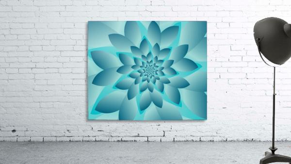 Modern Optical Illusion Floral Art