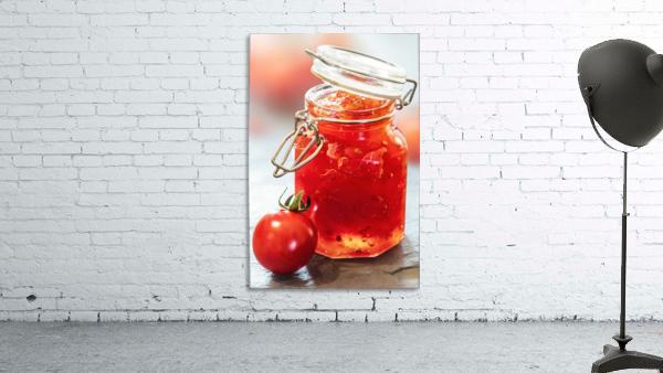 Tomato Jam in Glass Jar