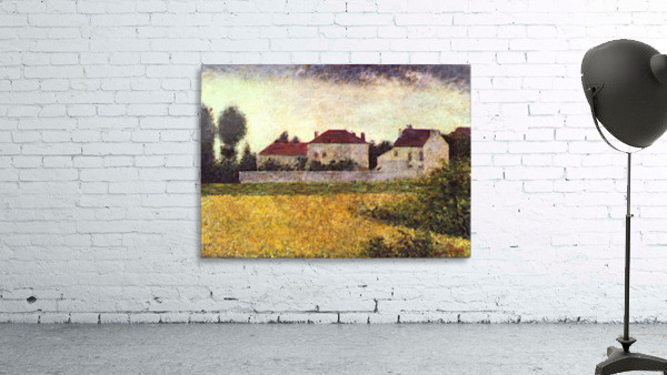 Ville dAvray, The white houses by Seurat