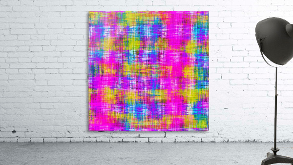 plaid pattern painting texture abstract background in pink purple blue yellow