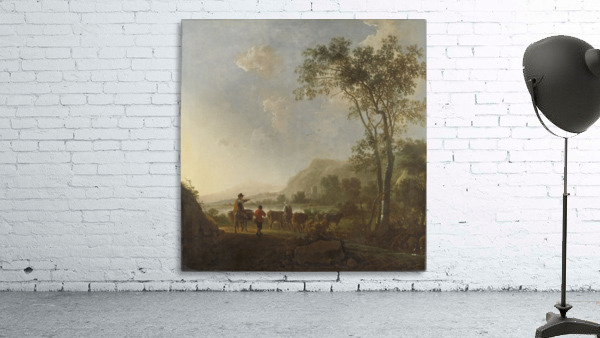 Landscape with herdsman and cattle