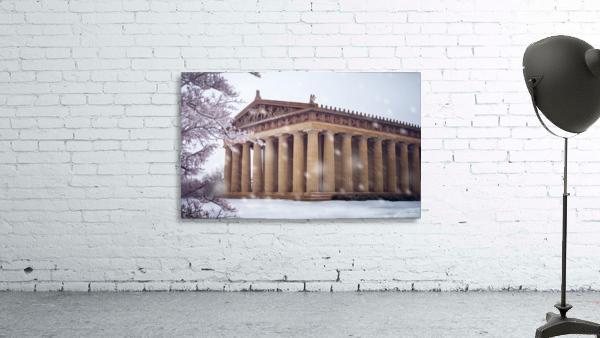 Parthenon in Nashville during winter