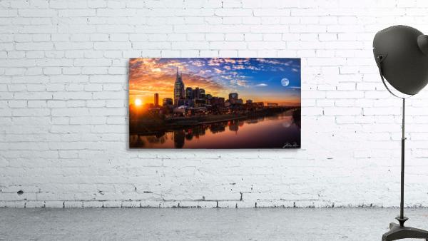 Nashville Skyline and sunset