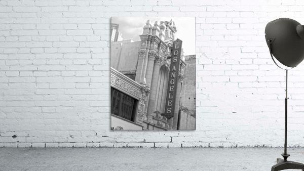 Vintage Los Angeles Theatre Sign - B&W