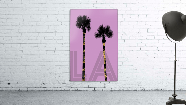 Graphic Art PALM TREES LA | pink
