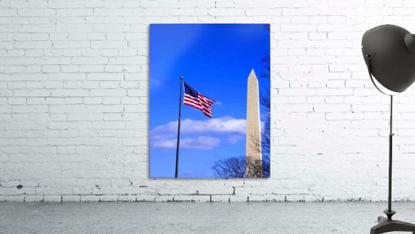 Flag & Washington Monument