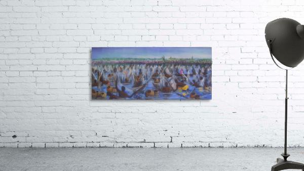 Argungu Fishing Festival, painted by Stephen Achugwo