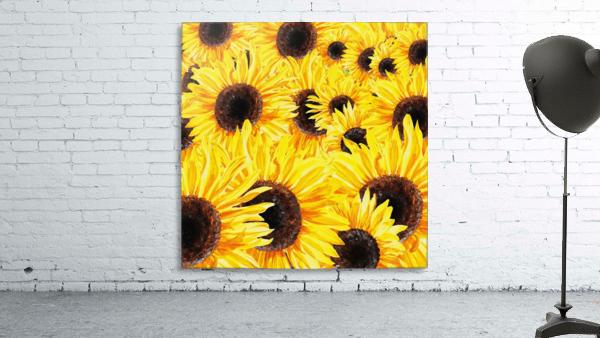 Sunflowers Field Watercolor Painting by Irina Sztukowski