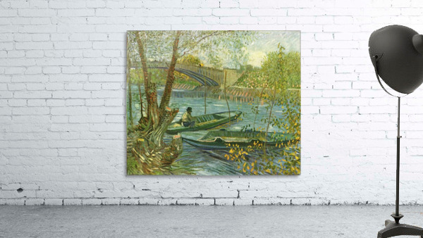 Angler and boat at the Pont de Clichy by Van Gogh