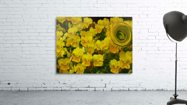 Yellow Abstract Floral Art