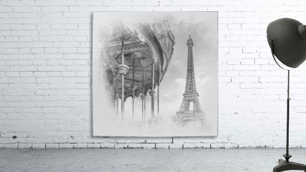 Typical Paris   monochrome watercolor