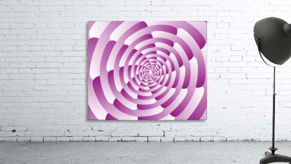 Abstract Pink Spiral Art