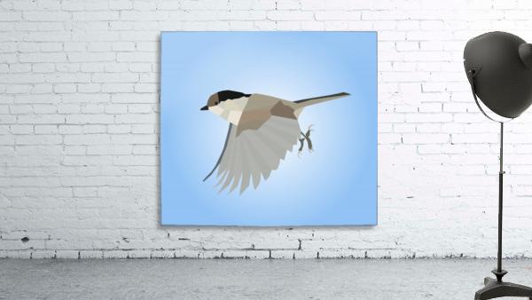 WILLOW TIT BIRD LOW POLY ART