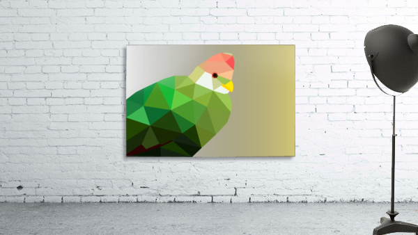 RED CRESTED TURACO LOW POLY ART