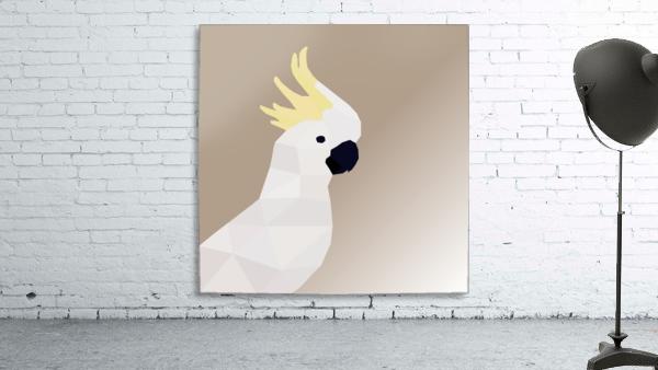 COCKATOO BIRD LOW POLY ART