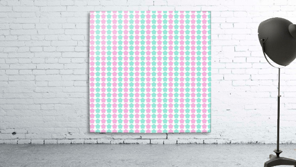 Pink _ Blue Star Seamless Pattern Artwork