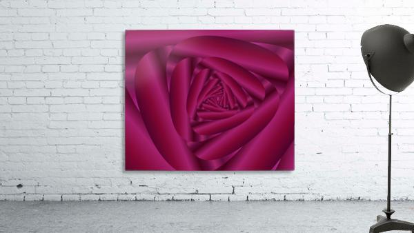 Pink Color Rose Swirl Art