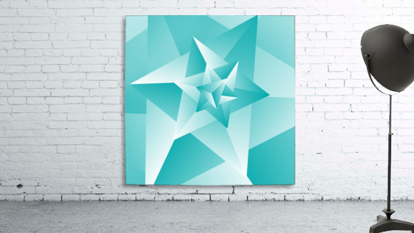 Bluish Trendy Triangle Art
