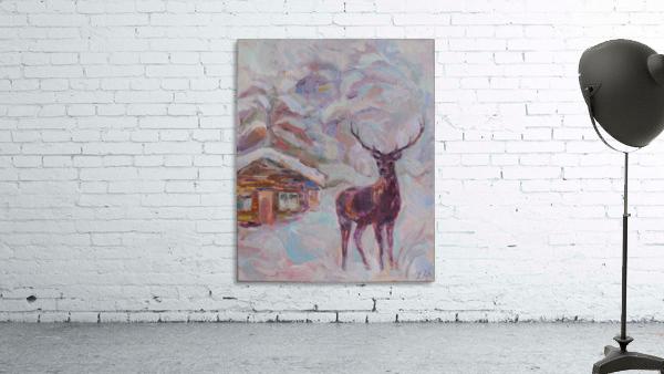 Deer and Hut
