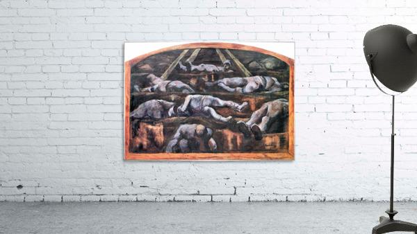 Dead victims, design (II) by Albin Egger-Lienz