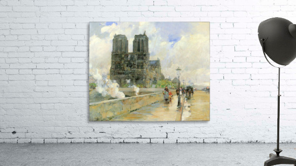 Cathedral of Notre Dame, 1888 by Hassam