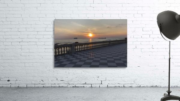 Sunset in Livorno - Piazza Mascagni