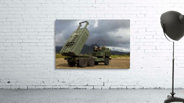 A M142 High Mobility Artillery Rocket System.