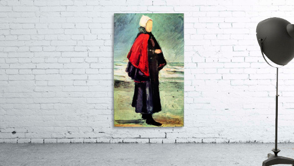 Fisherwoman on the shore by Van Gogh