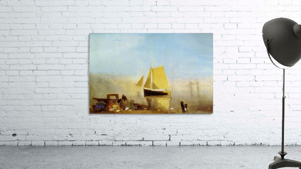 Fishing boat in a mist by Joseph Mallord Turner
