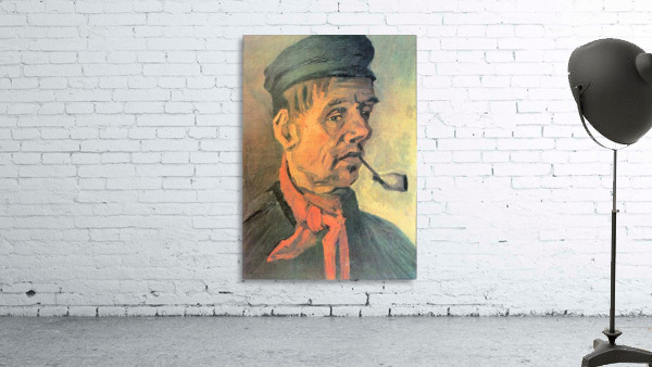 Head of a farmer with a clay pipe by Van Gogh