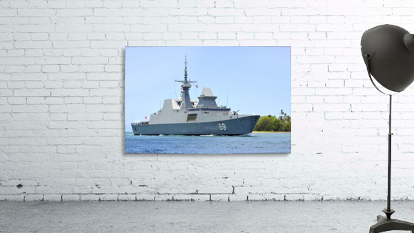 The Singapore frigate RSS Intrepid.