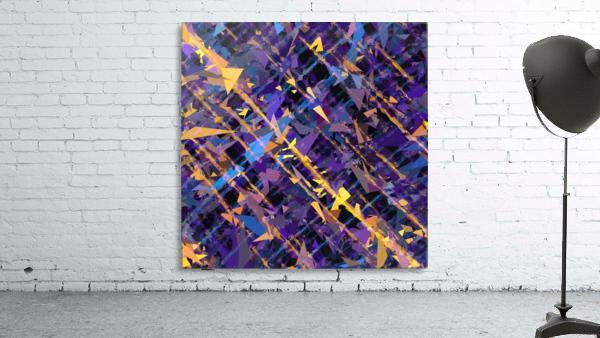 splash geometric triangle pattern abstract background in blue purple yellow