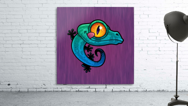 Cute Colorful Cartoon Gecko