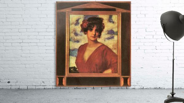 Lady in Red by Franz von Stuck