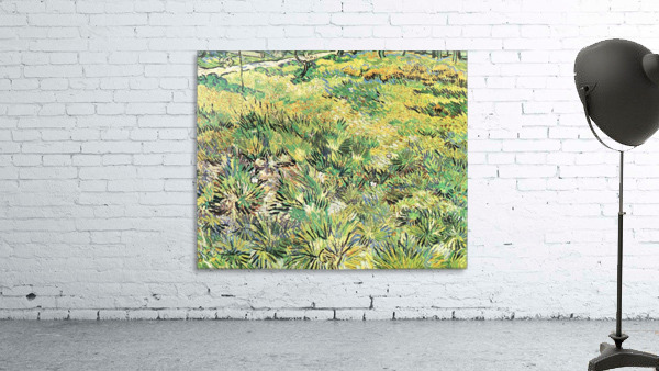 Meadow in the Garden of Saint-Paul Hospital by Van Gogh