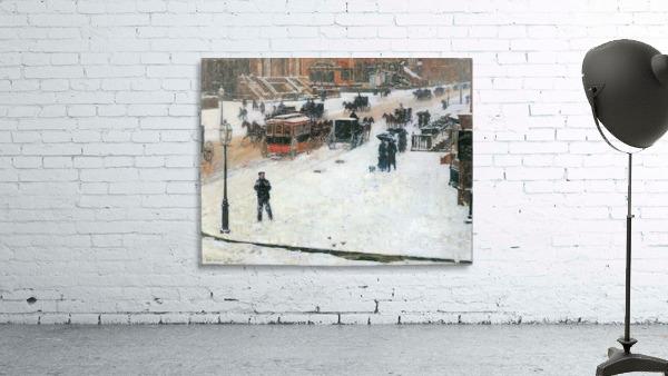 Fifth Avenue in Winter by Hassam