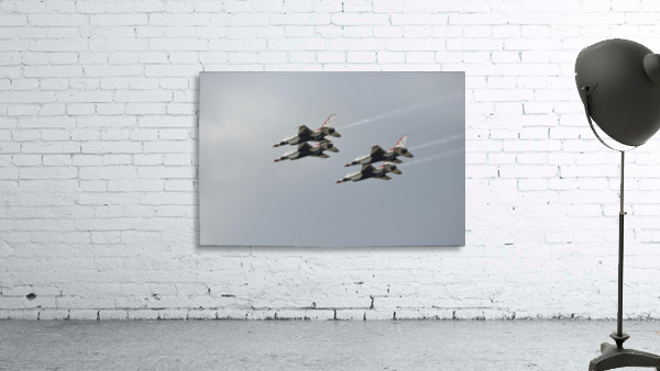 The U.S. Air Force Thunderbirds fly in formation.